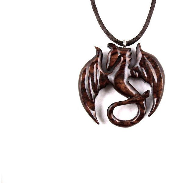 wood in exotic brl hand necklace cocobolo wooden carved jewelry wolf pendant pin