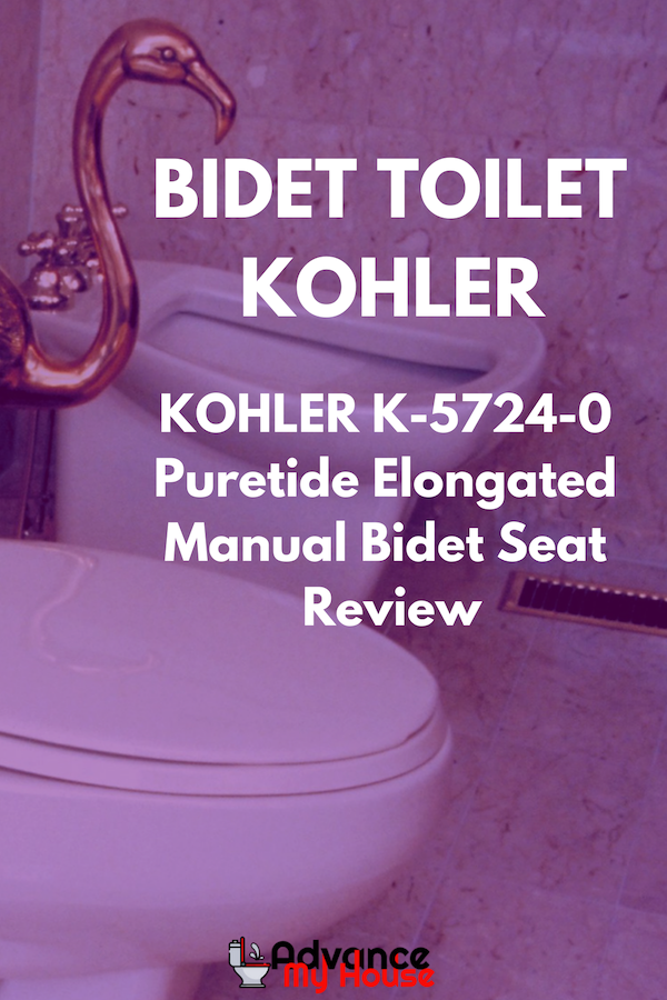 Kohler K 5724 0 Puretide Elongated Manual Bidet Seat Review New Toilet Clogged Toilet Toilet