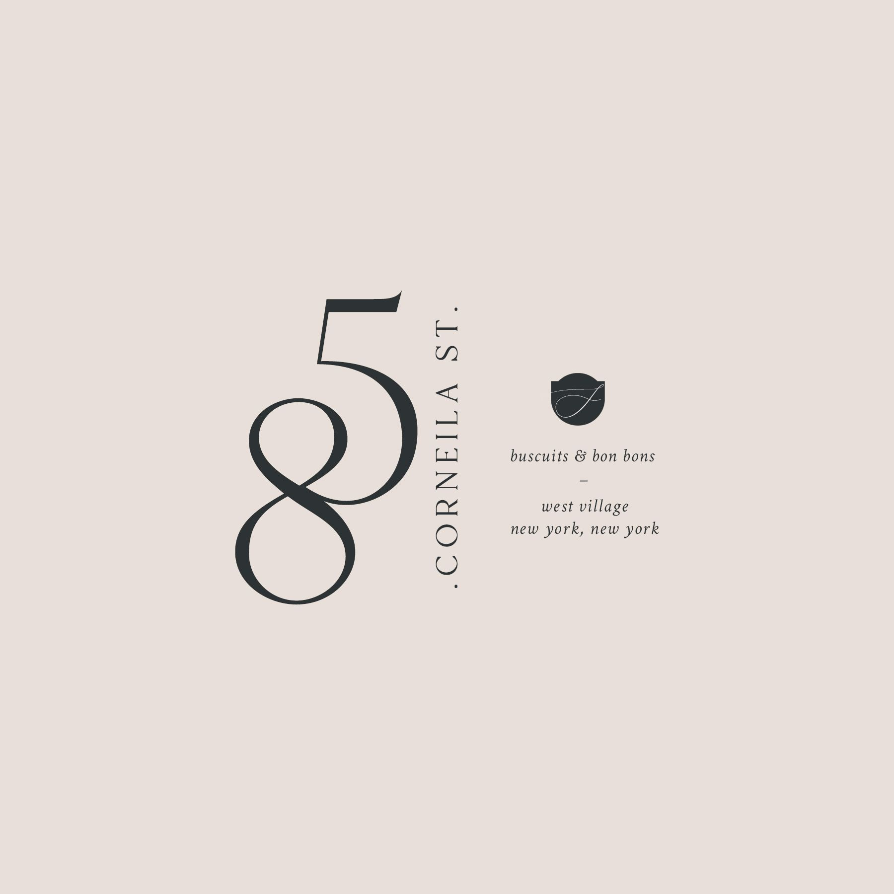 85 Cornelia Street Logo By Harper Maven Design Logo Design Branding Design Brand Stylist