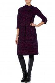 Sahara Ikat Jacquard Jersey Button Dress