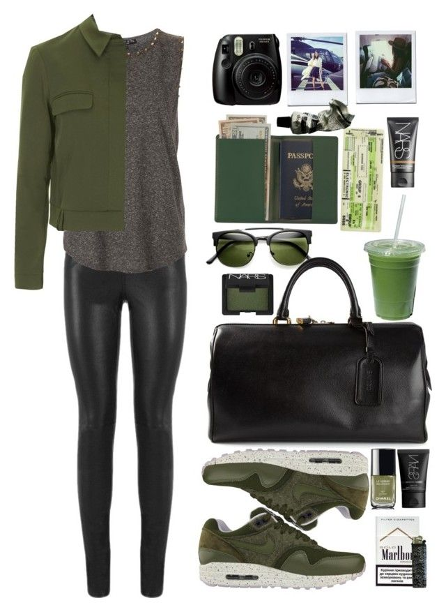 """""""Sugar"""" by vanessasimao1999 ❤ liked on Polyvore featuring Kerr®, Yves Saint Laurent, Topshop, NIKE, CÉLINE, NARS Cosmetics, Royce Leather, Chanel, Aesop and travel"""