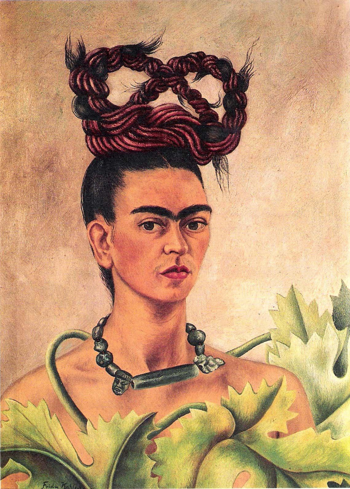 frida kahlo, autoretrato trenza
