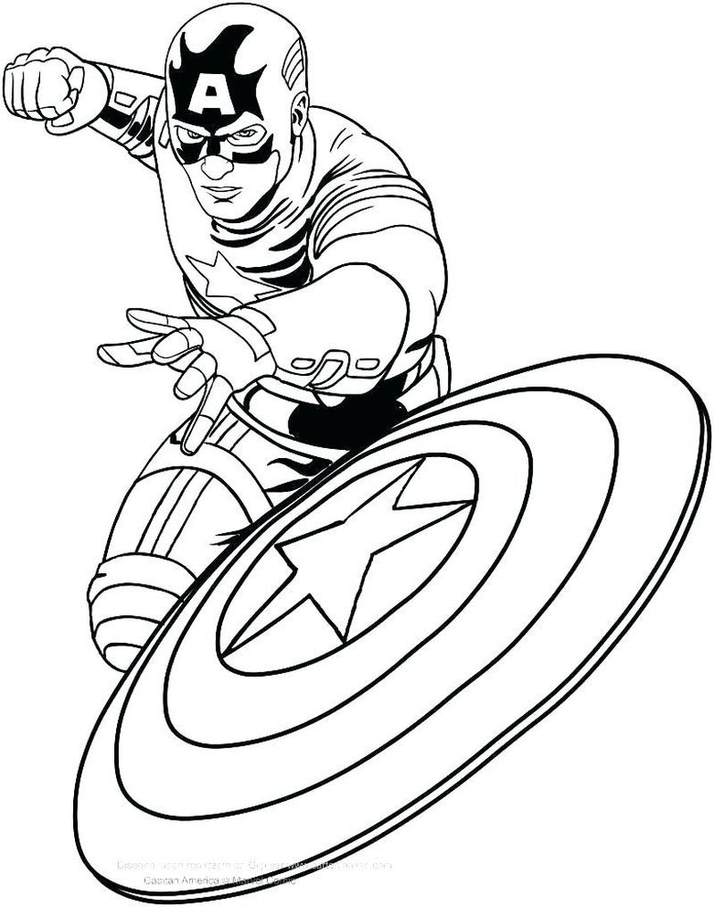 Captain America Coloring Pages Printable Gambar