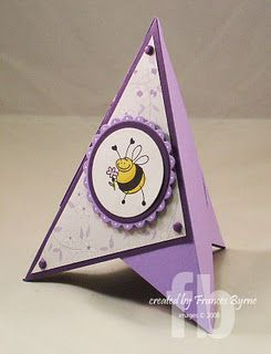 Stampowl S Studio A Pyramid Card Shaped Cards Paper Crafts Cards Cards Handmade