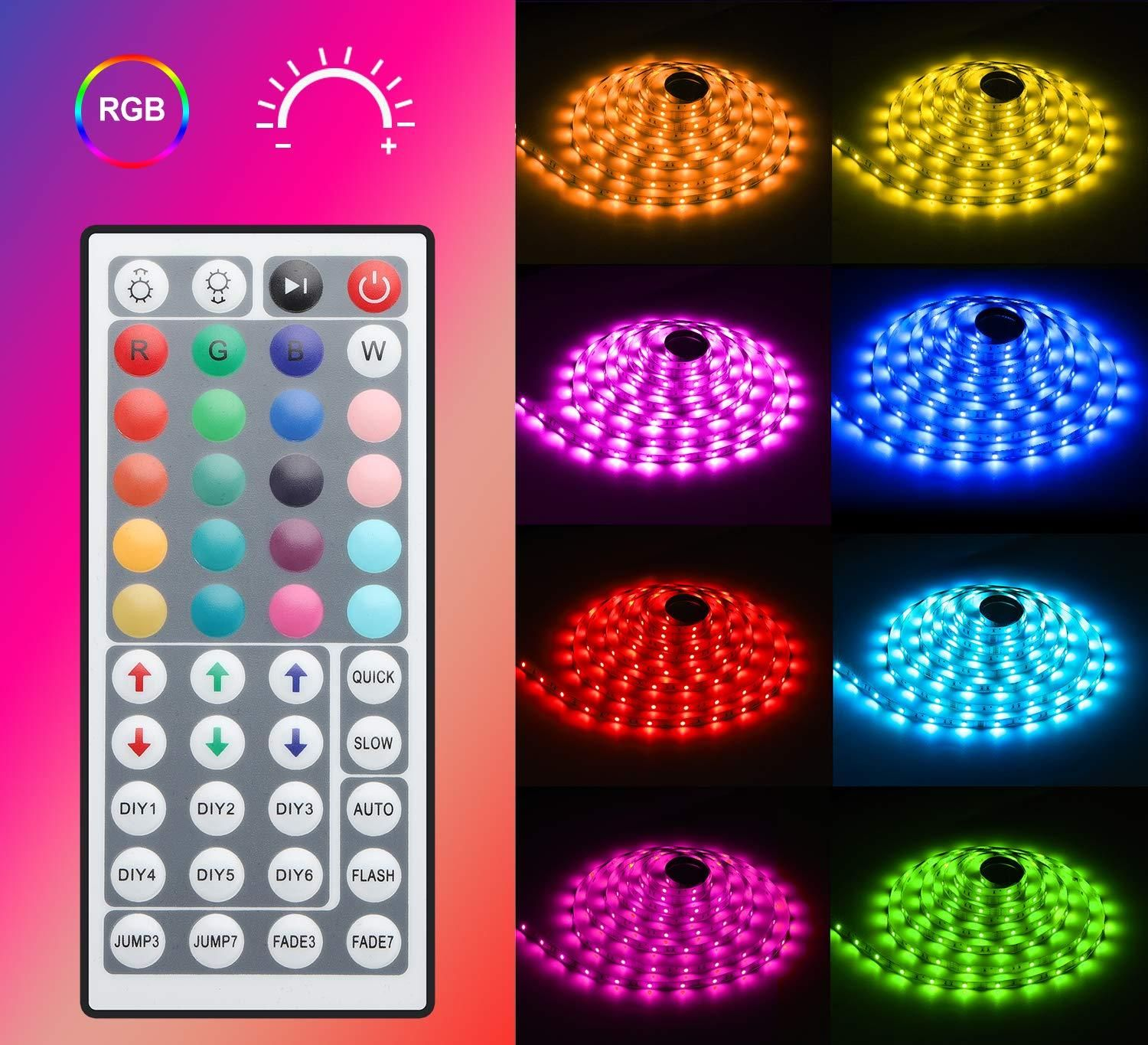 16ft Color Changing Led Light Strip Remote Included Led Strip