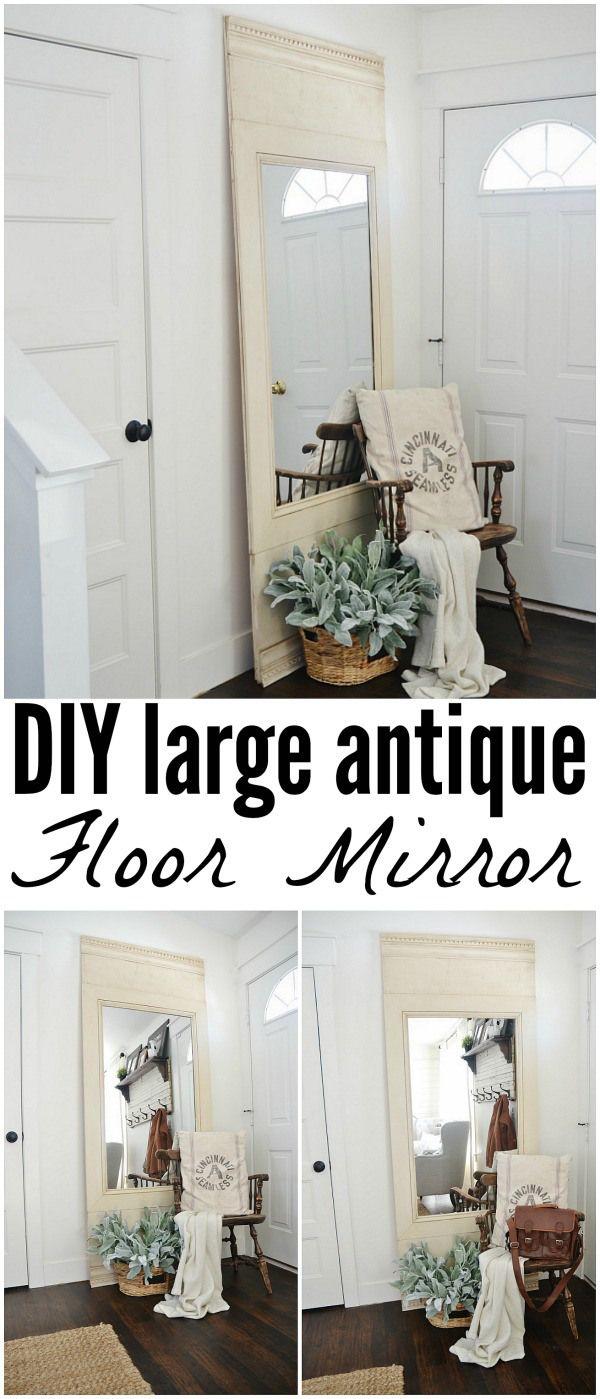 Best Diy Floor Mirror Diy Flooring Diy Home Decor Antique 400 x 300