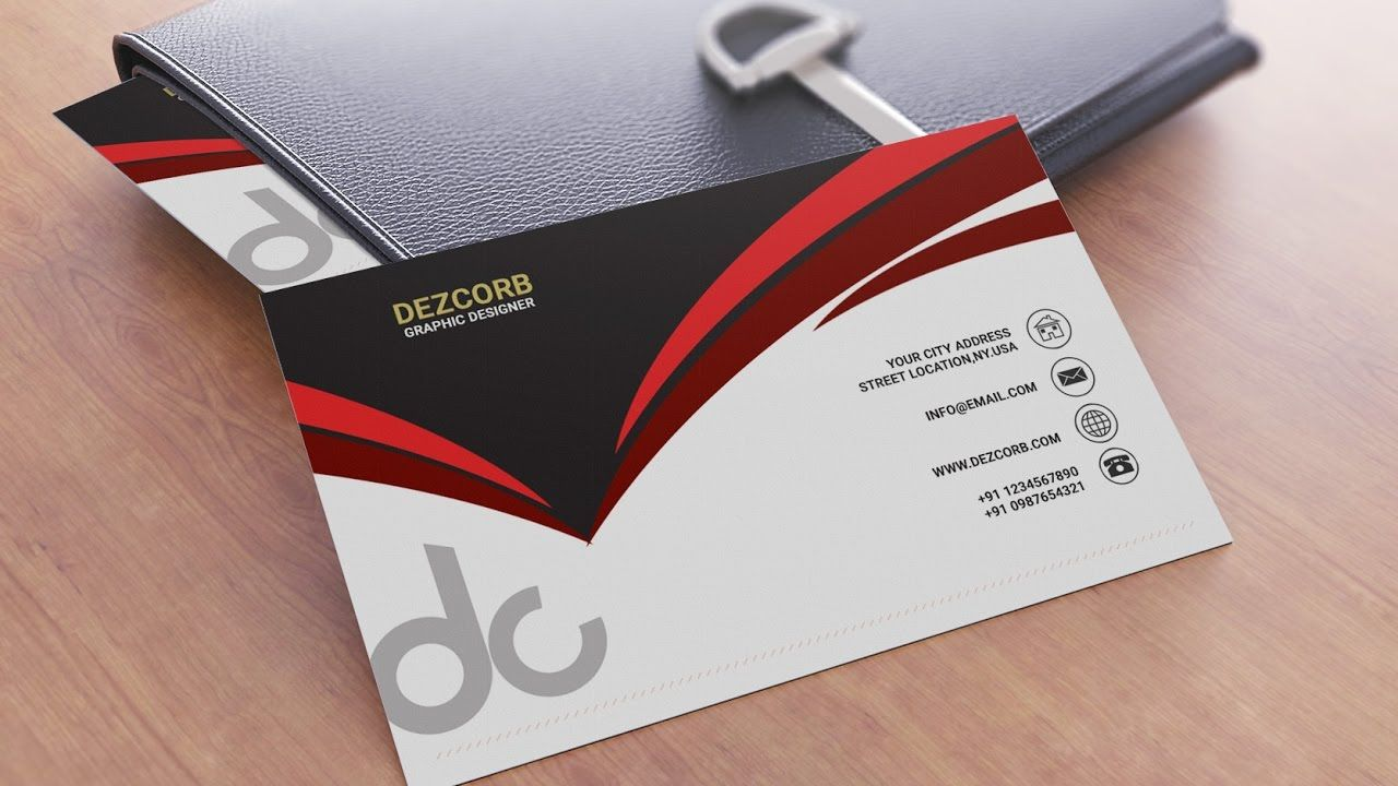 Business card design in photoshop cs6 back red gray white business card design in photoshop cs6 back red gray white reheart Image collections