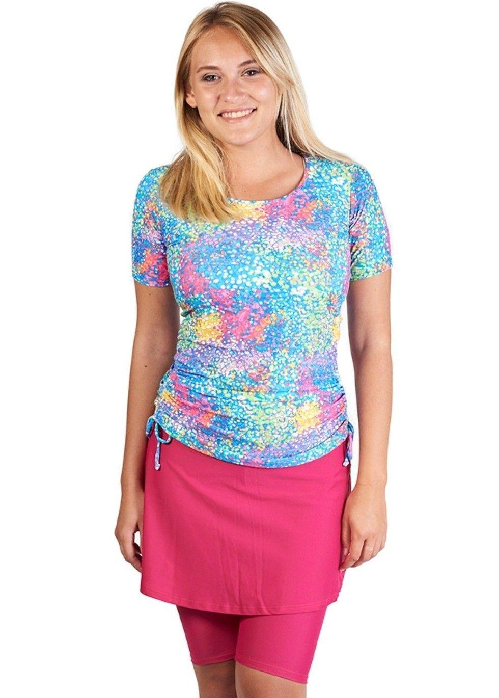37373a94435 Multicolored Print Adele Swim Set with Pink Midi Skort (Mix   Match Sizing)