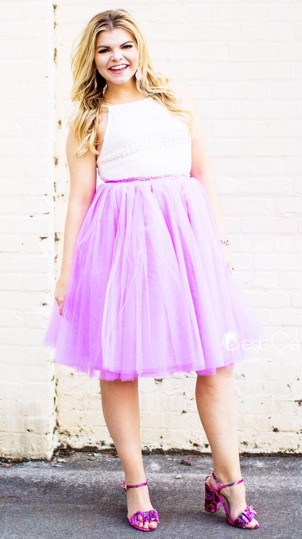 Clarisa Lilac Tulle Skirt - Midi | Fotos de flores y Flores