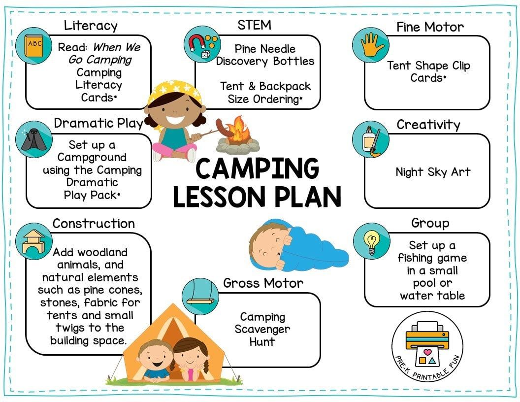 Camping Preschool Activities Free Sample Lesson Plan And