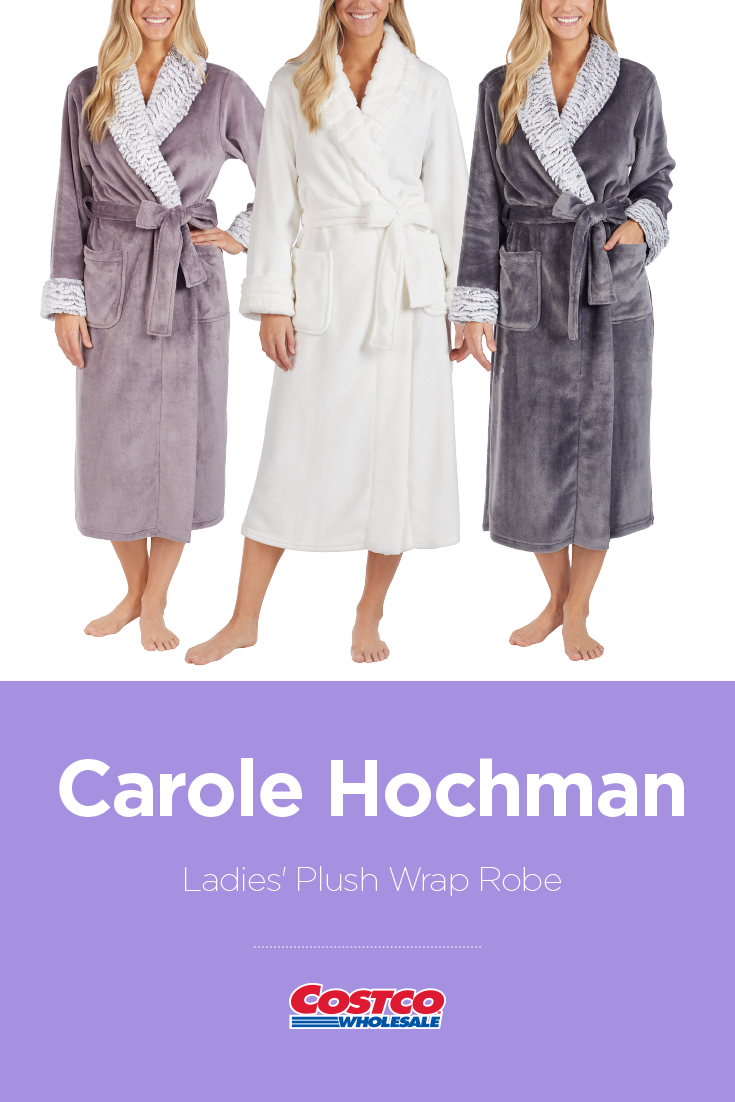 53558af57ae0 Carole Hochman Ladies' Plush Wrap Robe Find a great collection of Sleepwear  at Costco.