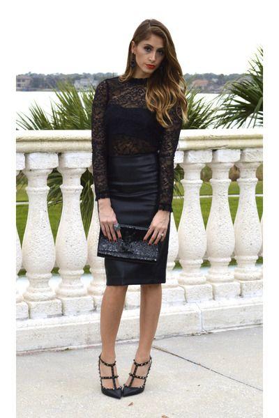 a5fa038dad1 pencil skirt lace top - Google Search | Senior Studio | Fashion ...