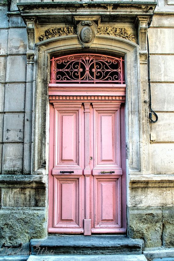 Pink Door, South of France: 4x6 Fine Art Photograph, Matted on Etsy, $20.00