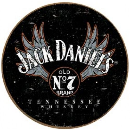 Jack Daniels Winged Logo Tin Sign