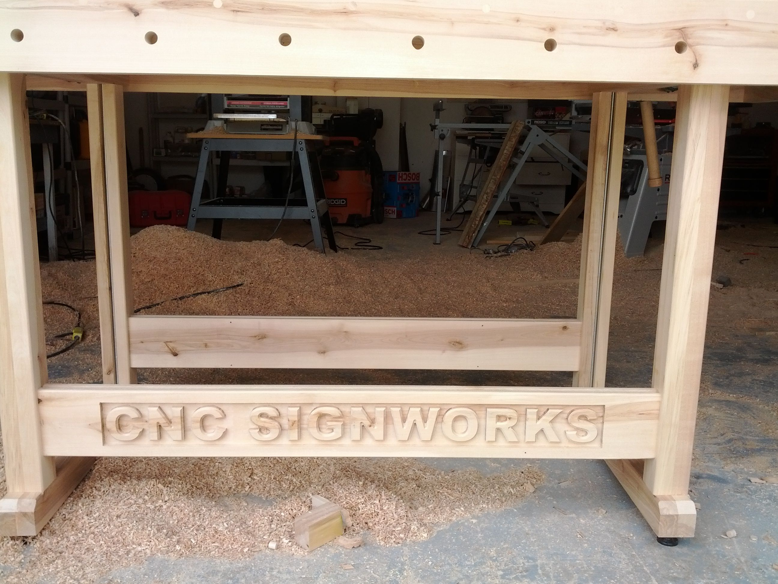 Woodworking bench for my shop