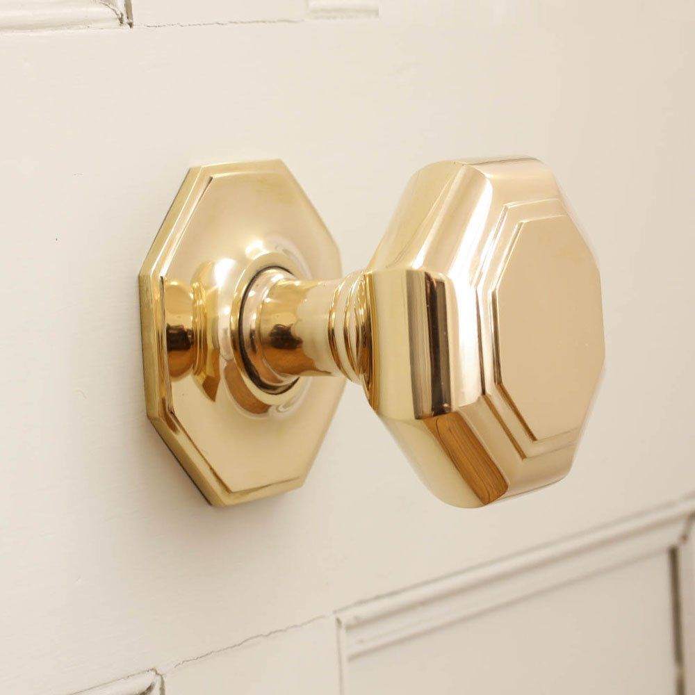 A really Large Octagonal Brass Door Pull for your front door will ...