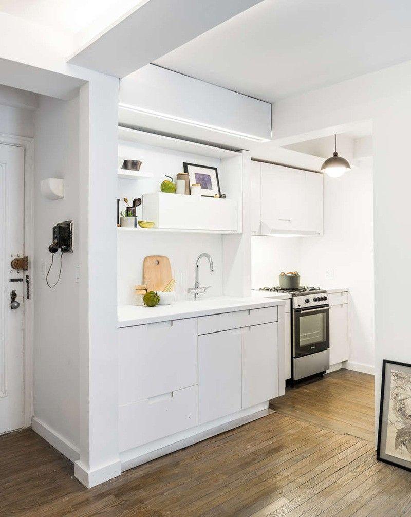 Mini apartamento con tabique móvil | Estilo Escandinavo | Interiores ...