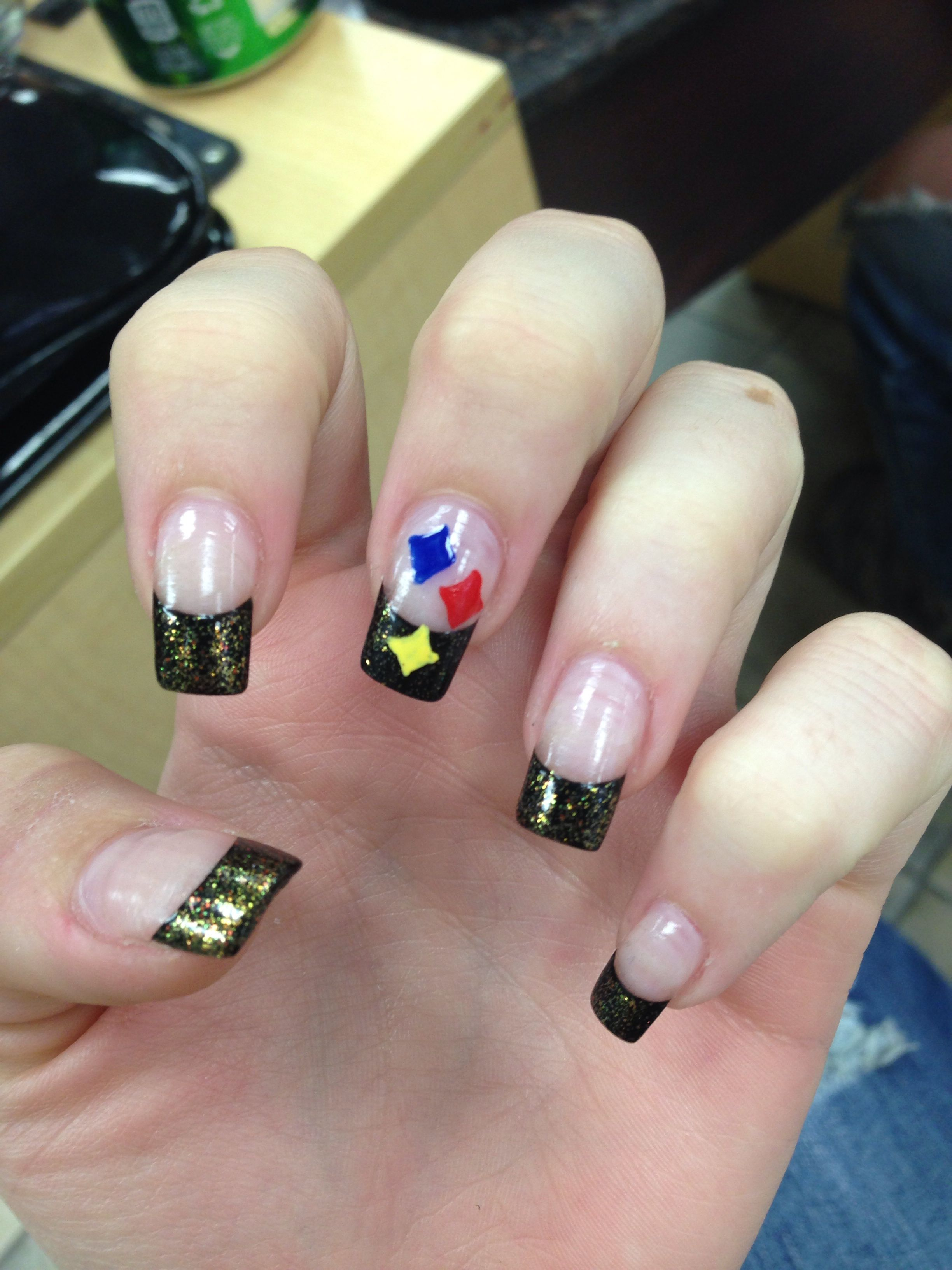 Steelers nails | my nails | Pinterest