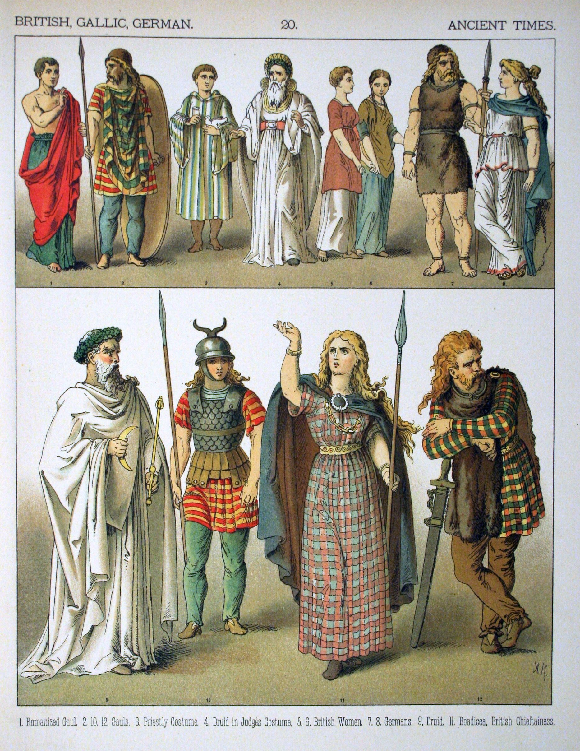 Description Ancient Times, British, Gallic, German - 020 ...