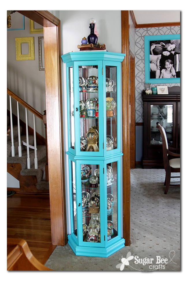 Lovely Curio Cabinet Redo