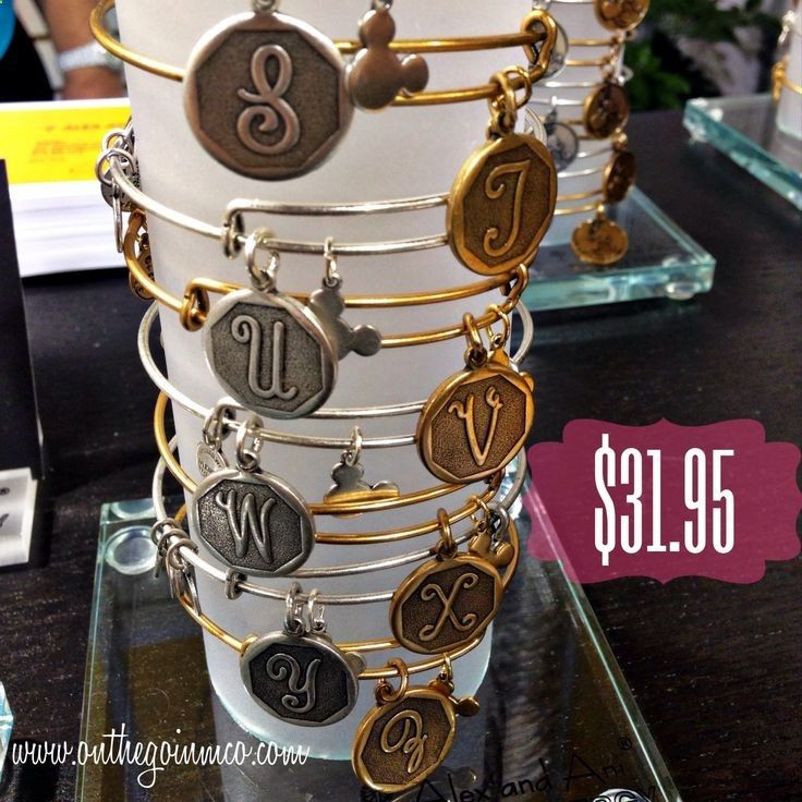 The Alex And Ani Disney Initial Bracelets Have Cutest Little Hidden Mickey