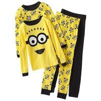 Despicable Me 2 Minion Face 4-pc. Pajama Set - Boys 4-8:Amazon:Clothing