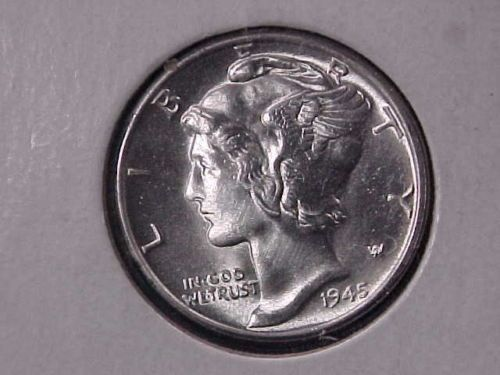 1945 D Silver Mercury Dime Full Bands Bu Blast White Gorgeous Coin Ebay Ebay Auction Ebay Mercury