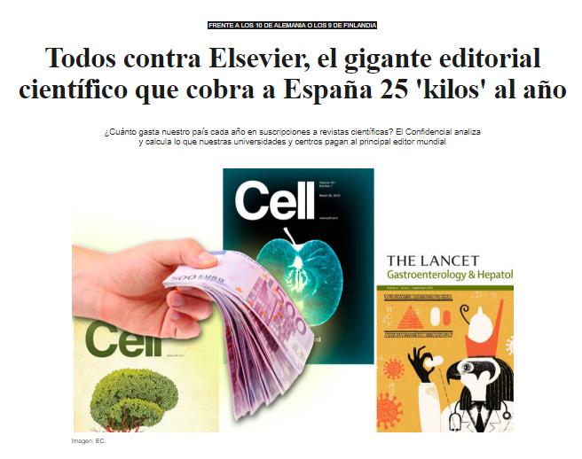 Todos contra Elsevier, el gigante editorial científico que cobra a ...