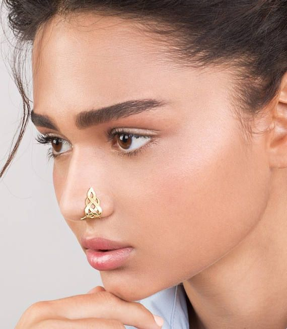 Fabulous Celtic Flame Nose Cuff - Faux Nose Ring , Fake Nose Hoop , Nose  MJ74