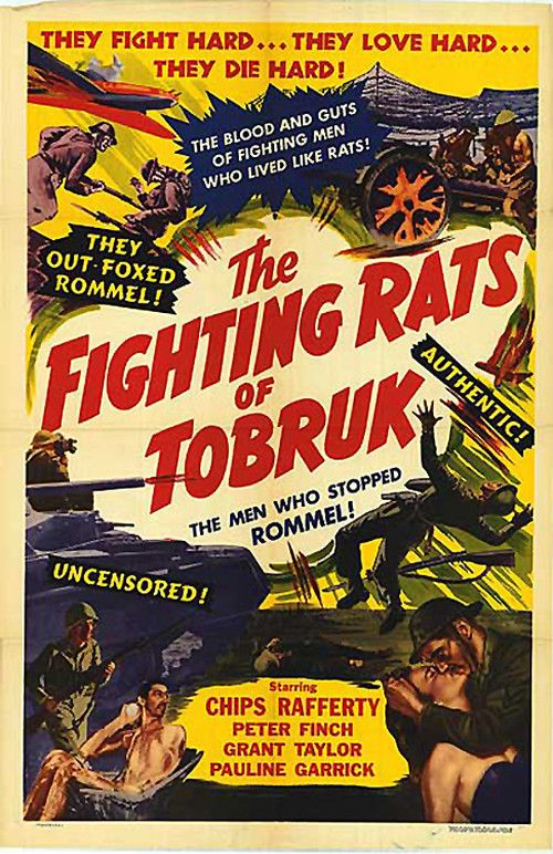 The Fighting Rats Of Tobruk 1944 With Peter Finch And