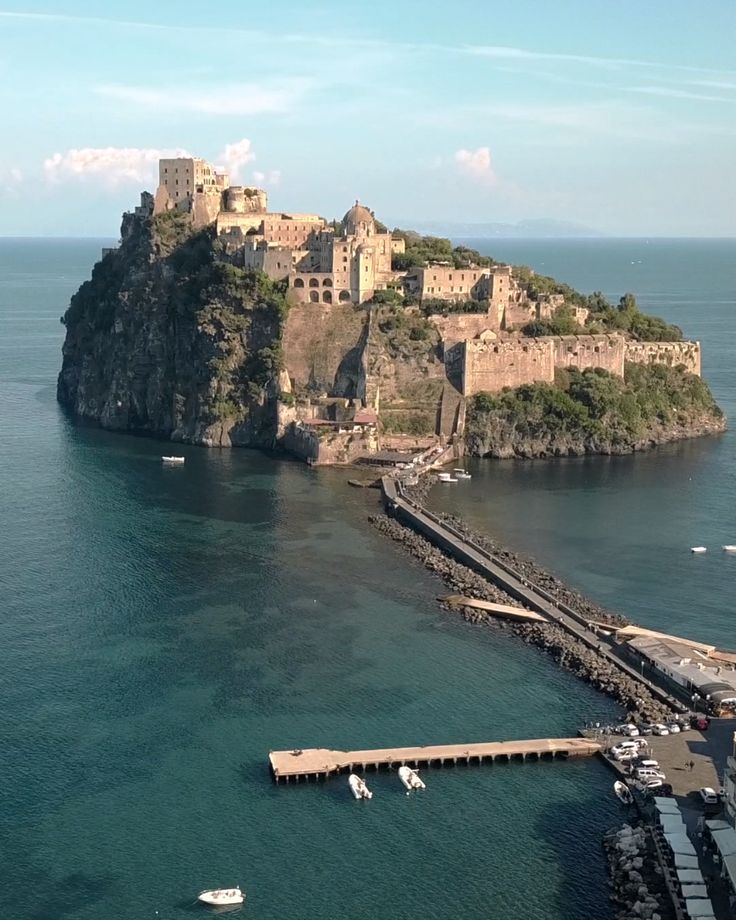 Castle Aragonese, Ischia, Italy. One of the coolest places I've ever been to. I couldn't resist getting my Mavic Pro out and taking a dronie.  #drone #dronie #mavicpro #microfournerds #ischia #italy #travel #dronegirl #droneselfie