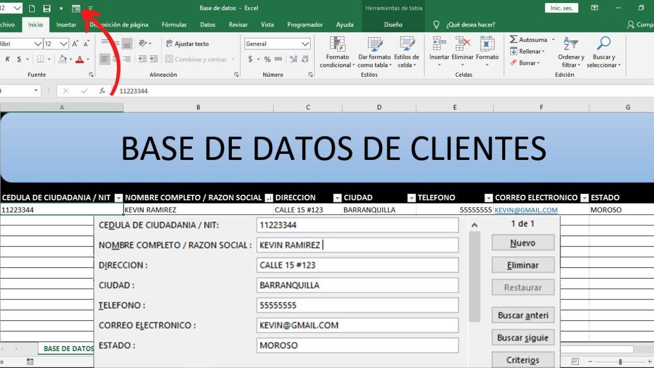 Como Hacer Formularios Automáticos En Excel Rápidamente Para Ingr Trucos De Excel Hoja De Calculo Excel Hojas De Cálculo