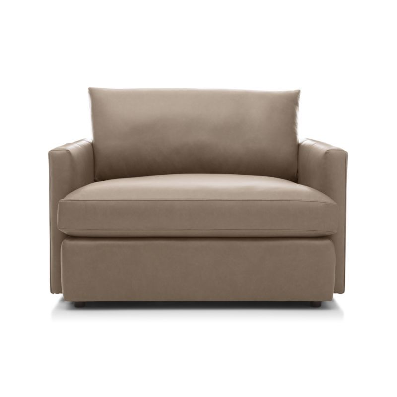 Lounge II Petite Leather Chair and a Half | Chair, a half ...