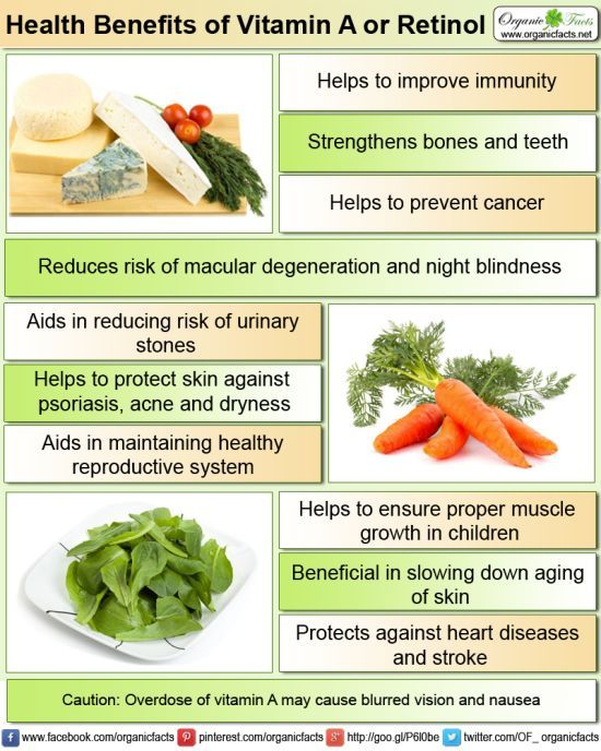 Health Benefits Of Vitamin A Or Retinol Organic Facts Retinol Benefits Benefits Of Vitamin A Vitamins