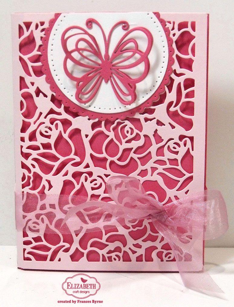 Rose Pocket Trifold Card Elizabeth Craft Designs Elizabeth