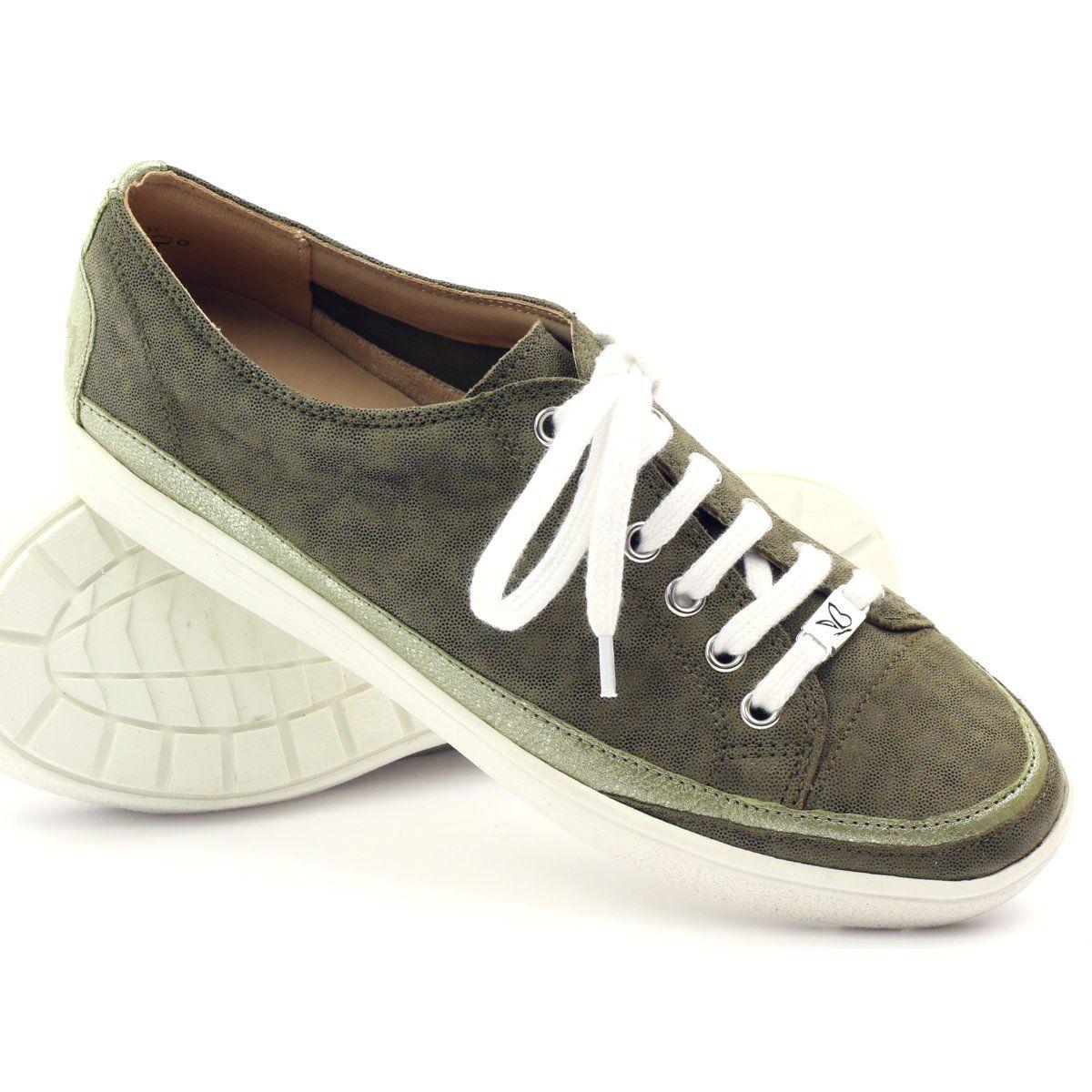 Caprice Buty Damskie Trampki Skorzane 23654 Zielone Zolte Sneakers Vans Authentic Sneaker Shoes