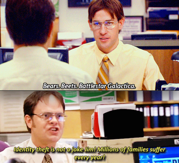 When Jim Imitated Dwight The Office Pinterest The Office