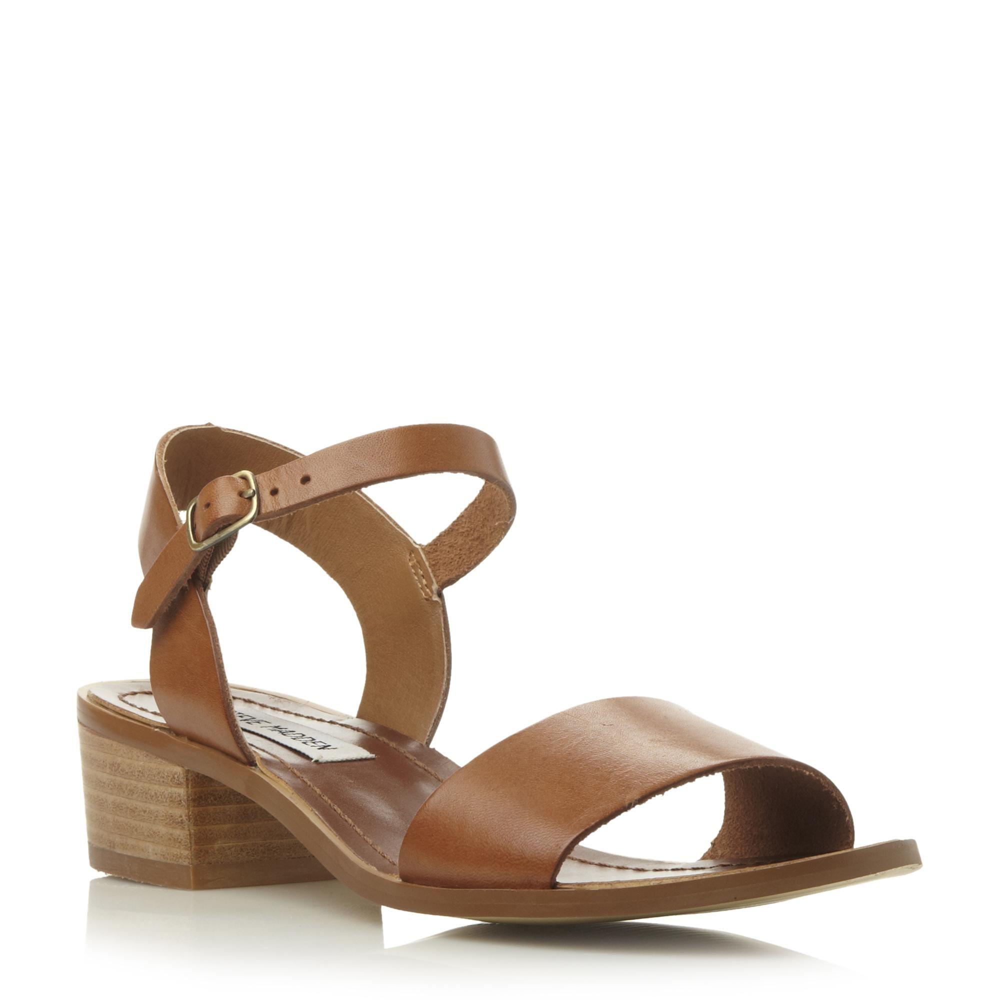 d68482b901b STEVE MADDEN DENSE SM - Low Block Heel Sandal - tan