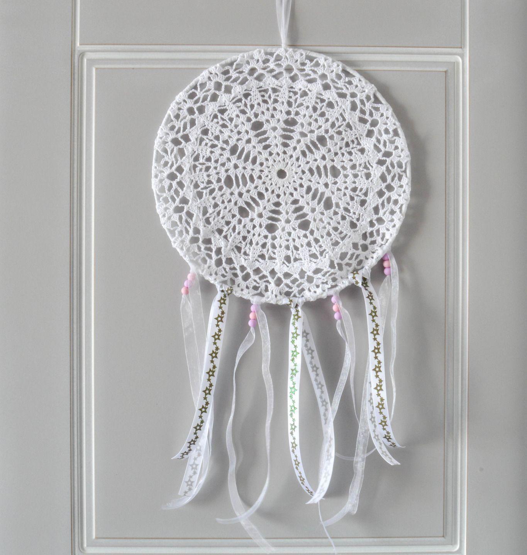 attrape r ves dreamcatcher capteur de r ve 25 cm de diam tre napperon au crochet d coration. Black Bedroom Furniture Sets. Home Design Ideas