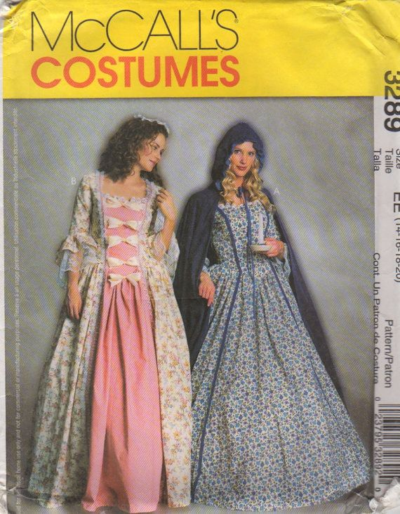 McCalls 40 Misses Colonial Costume Pattern Princess Seam Dress And Classy Colonial Dress Patterns