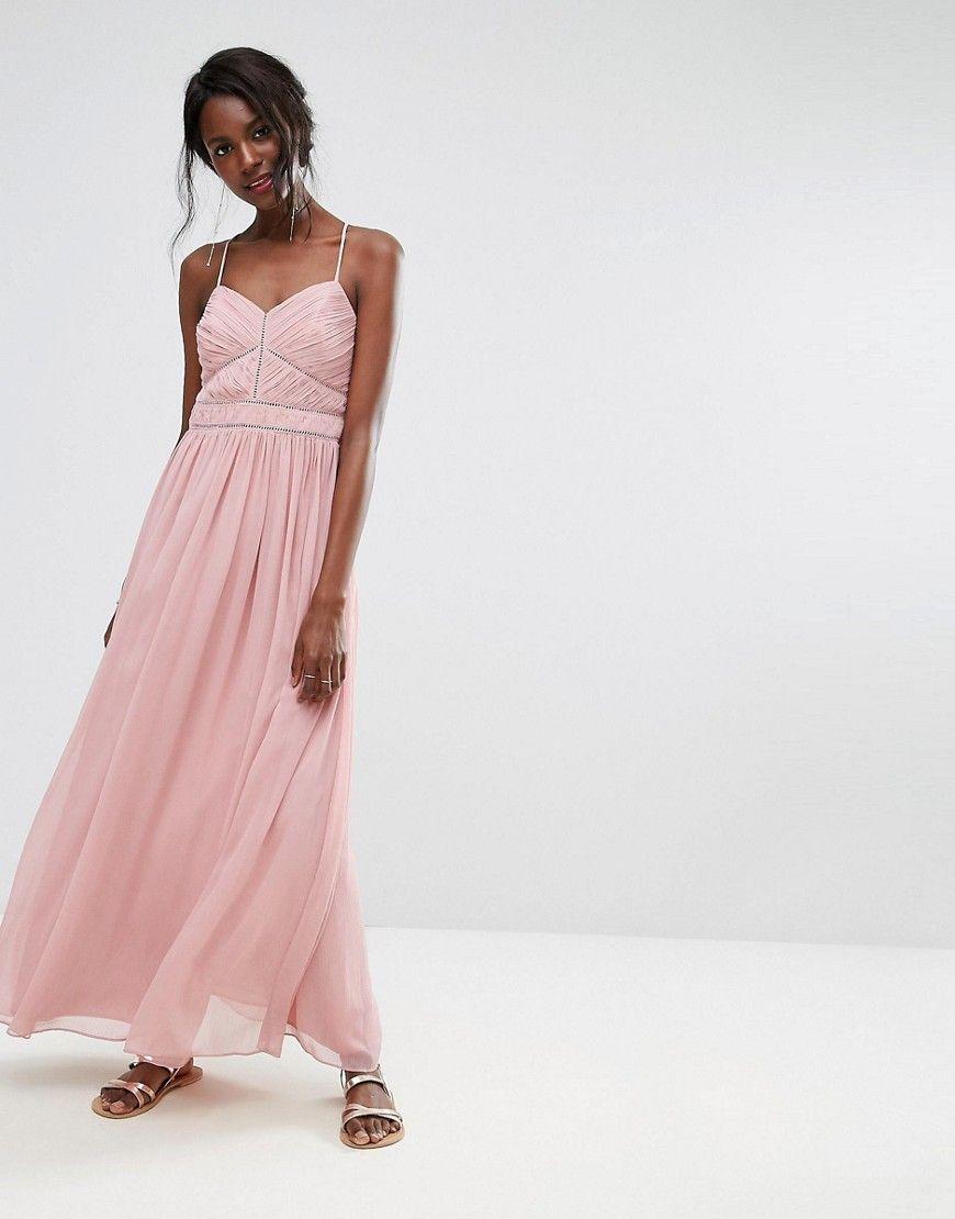 Oasis Chiffon Maxi Dress Pink   Women cheap dresses