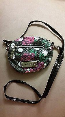 Betsey Johnson Polka Dot Roses Sequin Crossbody Bag