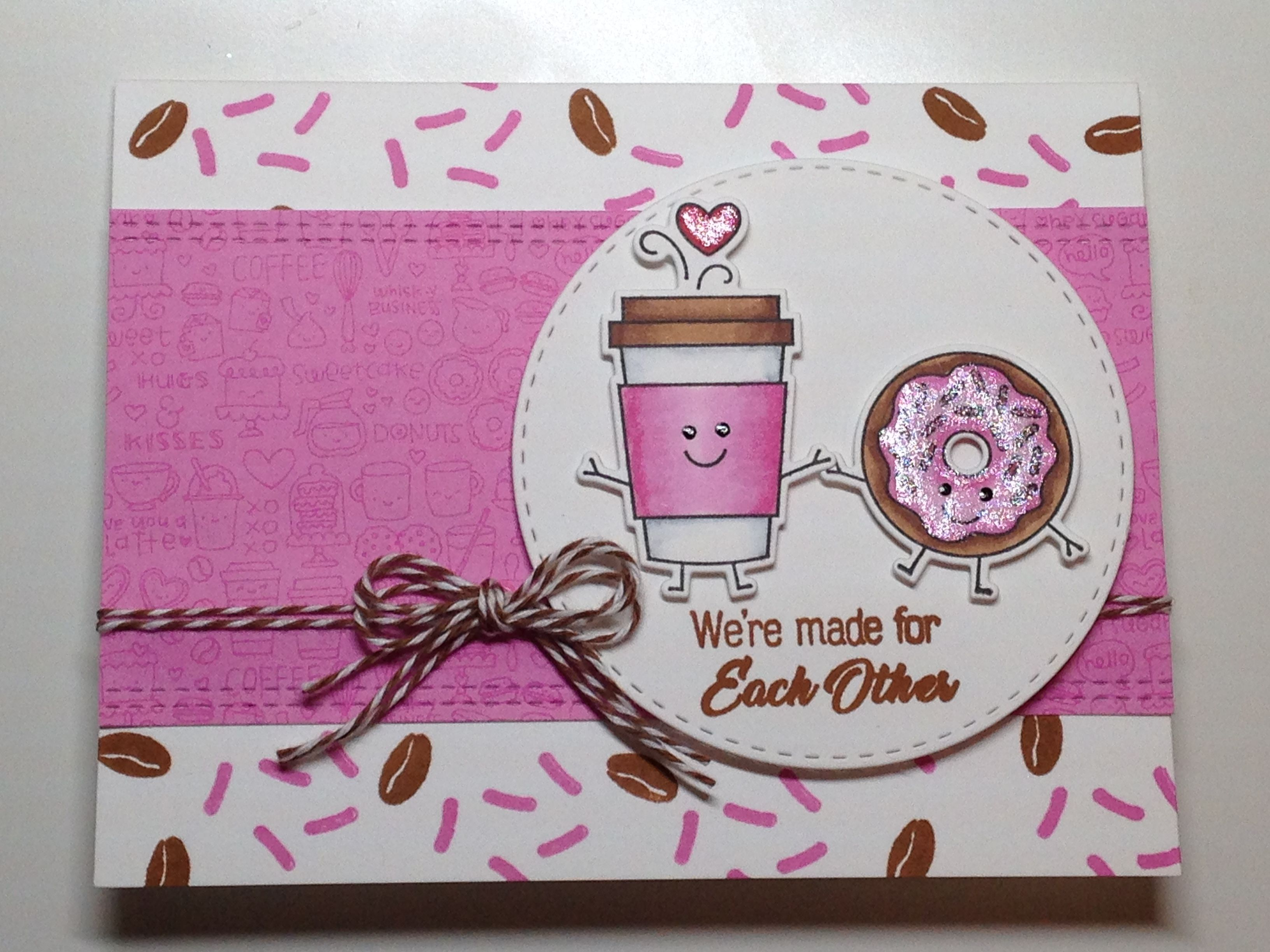 Coffee Donut Valentine S Anniversary Card Stamps Taylored