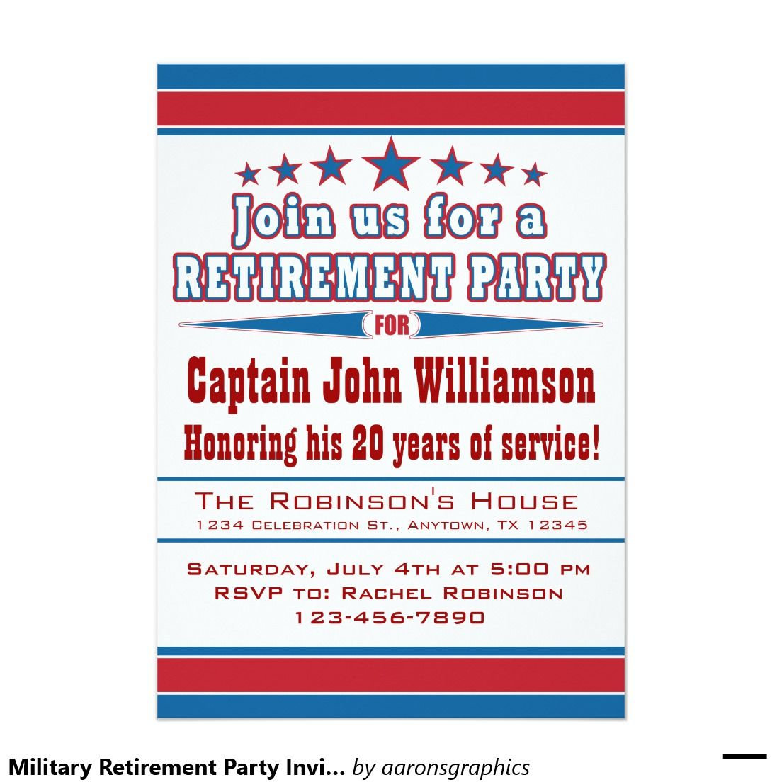 Military Retirement Party Invitation  Military Retirement Party