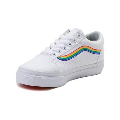 Youth Vans Old Skool Rainbow Skate Shoe - white - 1498266  c270cbdea53
