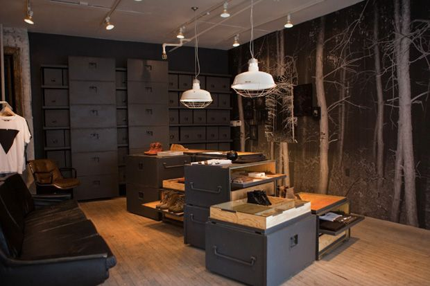 vane concept store new york opening forest theme wall papers and retail. Black Bedroom Furniture Sets. Home Design Ideas