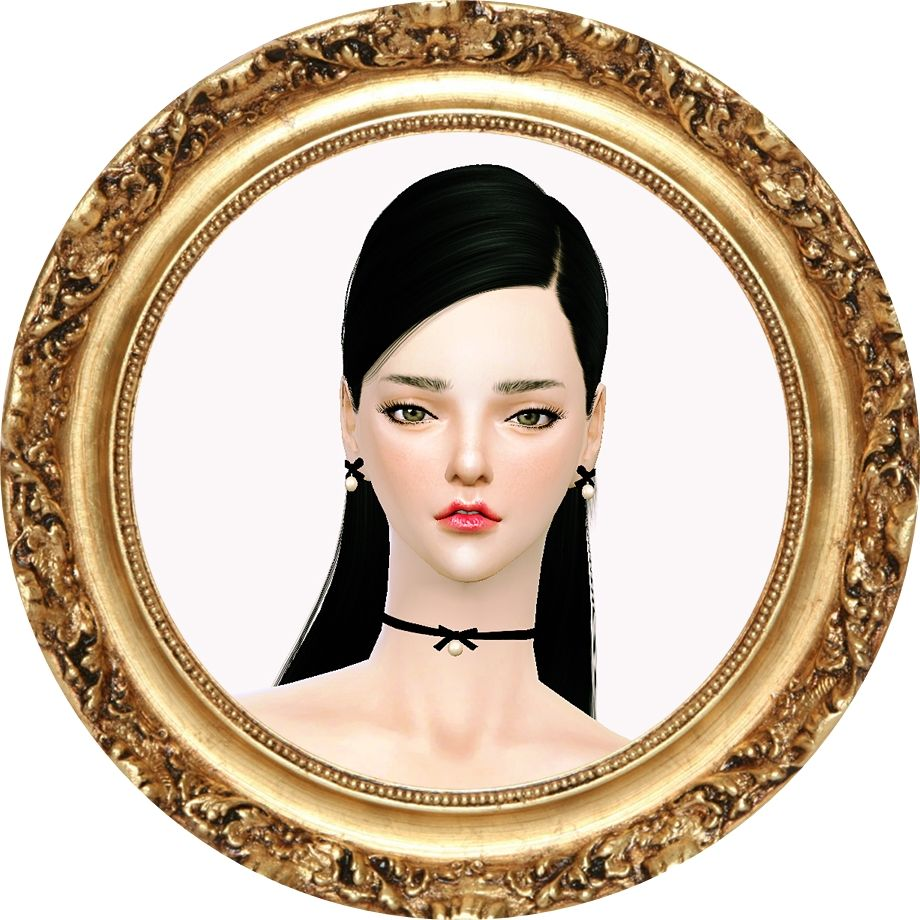 206 best images about sims 3 on pinterest dots sims 4 and warm - Sims4 Marigold Thin Ribbon Choker Earring_ _