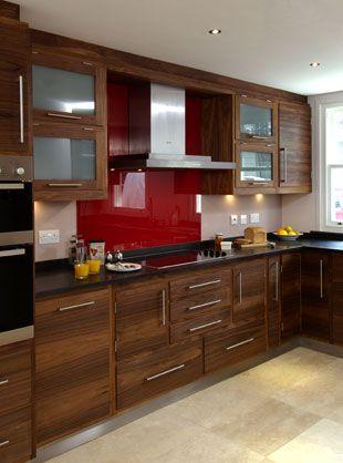kitchen walnut cabinets light floor | WALNUT KITCHEN ...