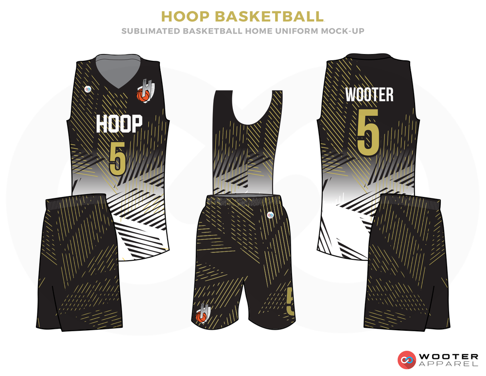 751af9de592 HOOP BASKETBALL Grey White and Green Basketball Uniforms, Jersey and Shorts