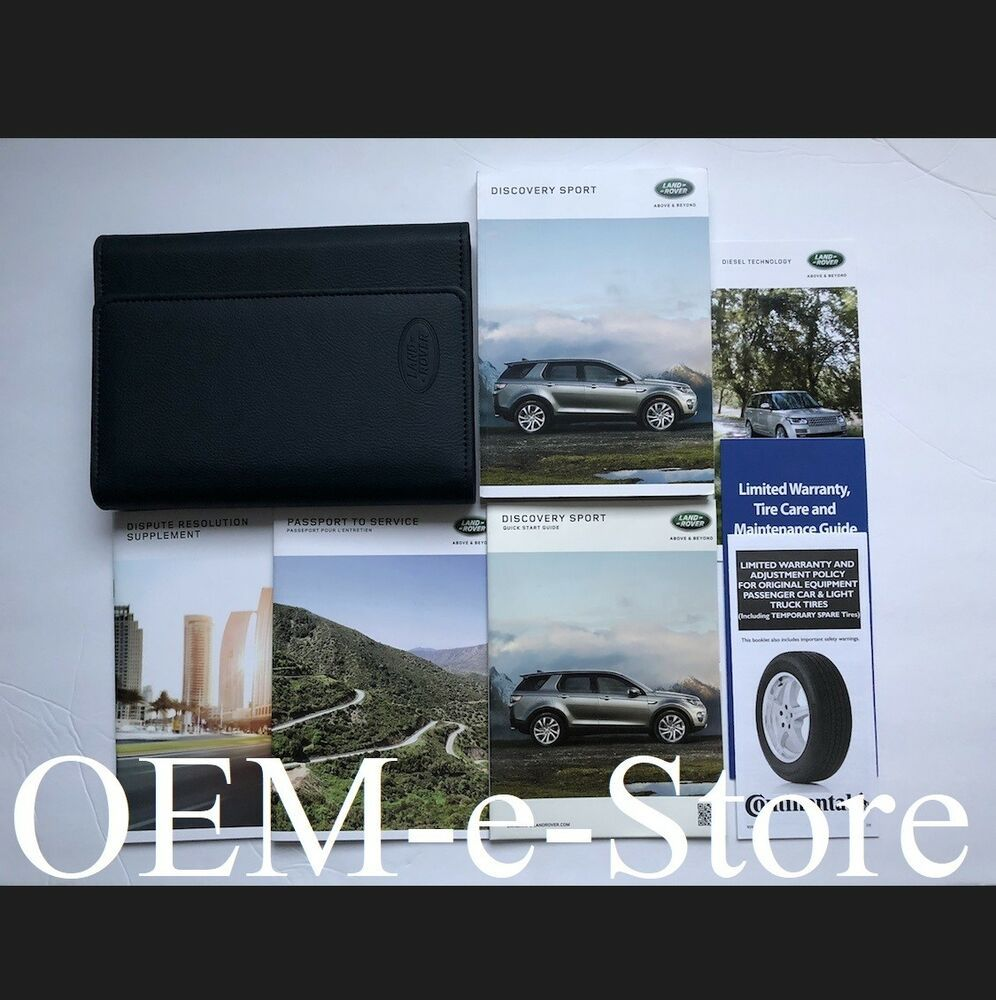 Ebay Sponsored 2018 Land Rover Discovery Sport Owners Manual Navigation Book Guide Set Case Land Rover Discovery Sport Land Rover Land Rover Discovery